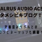 WALRUS AUDIO ACS1 タメシビキブログ!